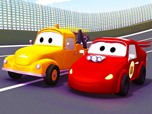 Image of Tom the Tow Truck and Jerry the Red Racing Car
