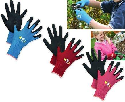 Kinderhandschuh TOWA rot 5-8 Jahre, latexbeschichtet