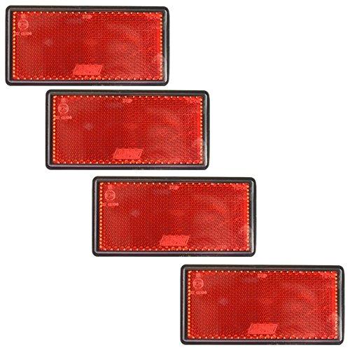 Grand r/éflecteur lat/éral rectangulaire orange Lot de 10 Post Cl/ôture Barri/ère Remorque TR067
