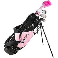 GolfGirl Pink Junior Golf Right Hand Clubs Set inc Bag
