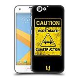 Head Case Designs Caution Fitness Motivation Ruckseite Hülle für HTC One A9s