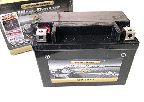 12V 10Ah Gel Power Batterie Akku YTX12A-BS (150 x 87 x 106 mm) für Motorrad
