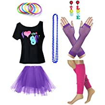fun daisy clothing damen i love the 80er jahre t shirt 80er jahre outfit zubehor