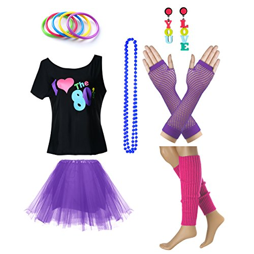 Women's I Love The 80's T-Shirt, Skirt and Accessories
