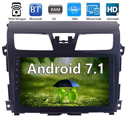 EinCar Android 7.1 Auto-Stereo Navigator im Schlag-Auto-Radio Multimedia mit 10,1 '' LCD Bluetooth WIFI 3G 4G FM AM RDS Radio GPS-Navigationssystem für Nissan Altima (2014-2016) + Free Canbus für Lenkrad-Steuerung