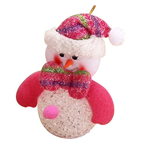 Eizur Pupazzo di neve LED Luce Bambola Giocattolo Ornamenti Albero di Natale Appeso Decorazioni Xmas Casa Decor Bambini Regalo Taglia 9*10cm