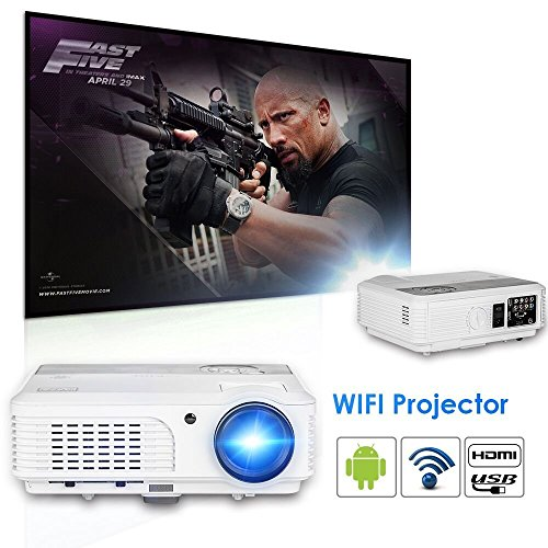 HDMI WiFi Android Video Projector LCD LED 4200 Lumen Home Cinema Outdoor...