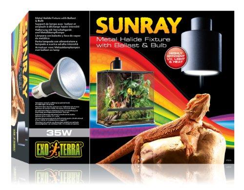 Exo Terra PT2315 Sunray Beleuchtungskomplettset + 35W Metalldampflampe