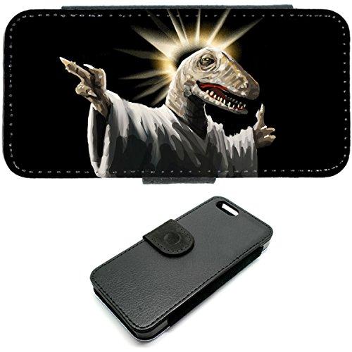 iPhone 5/5S Jésus Raptor Internet mème Funny Jésus Coque Étui portefeuille