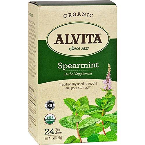 Alvita Teas Grüne-Minze-Tee koffeinfrei 30 Teebeutel -