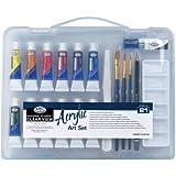 Royal & Langnickel Essentials - Juego de pintura acrílica (estuche transparente, tamaño pequeño)