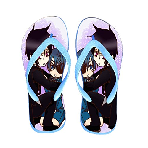 Bromeo Black Butler Anime Unisex Flip Flops Zehentrenner Flip Pantoffeln 68