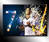 Cristiano Ronaldo Real Madrid Football 76,2x 50,8cm von Canvas35Kunstdruck Bild Poster, aufhängfertig, Leinwand, mehrfarbige,