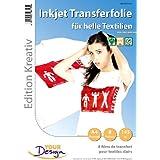 Papier transfert jet d'encre textiles clairs