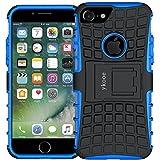 iPhone 7 Hülle, ykooe (Rüstungs Series) Silikon Stoßfest Handyhülle Slim Armor Drop Resistance Handys Schutz Hülle mit Ständer für Apple iPhone 7 (Blau)