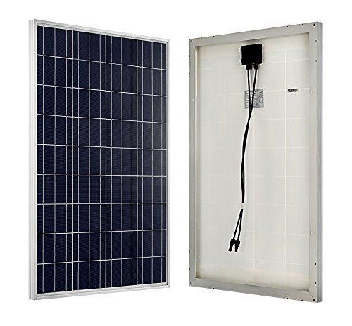 ECO-WORTHY 100W 12 Volt Solarmodul Polykristallin Solarpanel Photovoltaik Solarzelle Ideal zum Aufladen von 12V Batterien