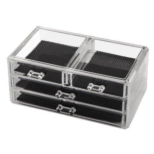 TRIXES Clear Acrylic Holder bureau cosmétique de maquillage Lipstick Brosses Organisateur