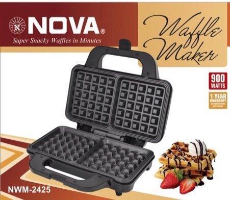 NOVA NWM-2425 900 Watt Nonstick Waffle Maker, Multicolour