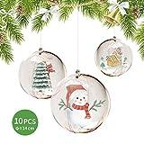 FOONEE 10 Pezzi Sfera Decorativa Trasparente da 14cm(5,5 Pollici), Palla riempibile Fai-da-Te, Adatta per Decorazioni Natalizie, Decorazioni per Alberi di Natale, Decorazioni per Feste di Nozze