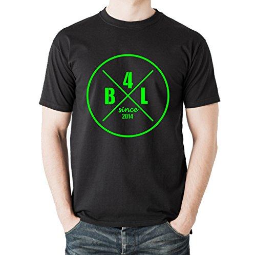 Siviwonder Unisex T-Shirt B4L MOTIV 3 BOARDERS FOR LIFE - Wakeboard schwarz - neongreen