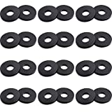 12 Pairs Guitar Strap Locks Strap Blocks Guitar Protector Strap Locks Buttons for Guitar, Black