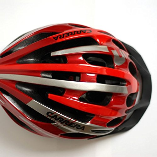 Fahrradhelm Carrera Shake rot silber