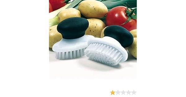 Norpro Grip-EZ Vegetable Brush Nylon Bristle Potato Veggie Cleaning Scrubber