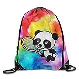 Dutars Rucksack mit Kordelzug für Tennisspieler und Panda-Spieler