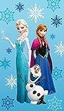 Familando Disney die Eiskönigin Strandtuch 75 x 150 cm ELSA, Anna, Olaf 100% Baumwolle Frozen Arctic