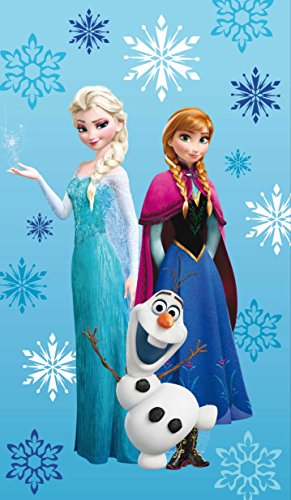 """Disney die Eiskönigin Strandtuch 75 x 150 cm Elsa, Anna, Olaf 100% Baumwolle Frozen """"ARCTIC"""""""