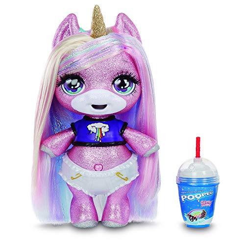 Giochi Preziosi Poopsie Glitter Sparkly Unicorn con un Magico Pancino in Versione Glitter