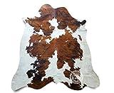 Sunshine Cowhides Teppich aus Kuhfell, Farbe: Tricolor TC1 Größe Circa 240 x 200 cm, Premium - Qualität von Pieles del Sol aus Spanien