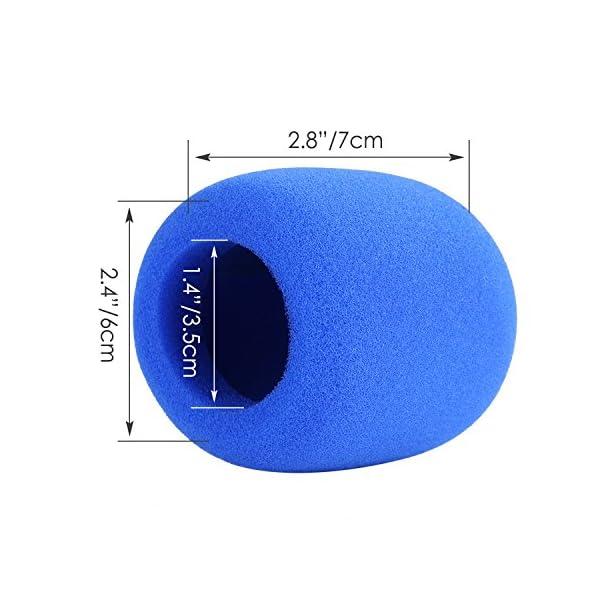Neewer® 5pz Antivento a Sfera in Spugna per Microfono Portatile per KTV, Ballo, Sala Riunioni, Interviste, in Multi-colore