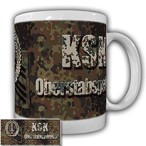 Tasse KSK Oberstabsgefreiter Barettabzeichen Kaffeebecher Schwert Bundeswehr Militär DstGrd Alfashirt#20919