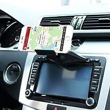 Soporte de coche, fidea® Universal de CD Slot Car Mount teléfono de soporte Cradle iPhone 6S/6+/5, Samsung Galaxy S7S6S5S4S3Nota 2Nota 3Más, con recto un golpe, giro de 360grados