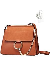 6a7726acbd9b4 Yoome Frauen Echtes Leder Crossbody Schulter Geldbörse Kette Messenger  Tasche für Mädchen Split Fashion…