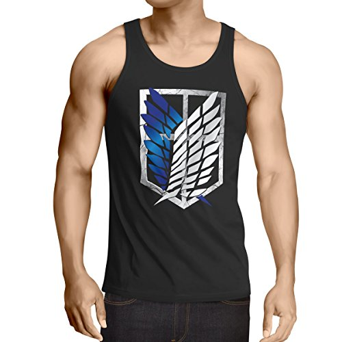A.N.T. Another Nerd T-Shirt A.N.T. Titan Aufklärungstruppe Wappen AOT Herren Tank Top on Attack, Größe:M - Tank-top Riesen