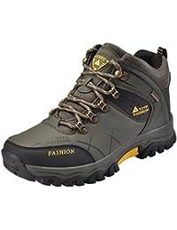 NEOKER Hombre Botas de Trekking y Senderismo Impermeables Aire Libre y Deportes Exterior Montaña Zapatos Ejército Verde Gris Marrón 39-47