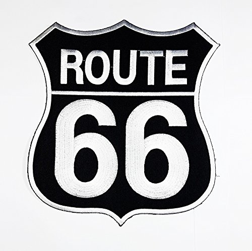 rabana XXL US Route 66 Racing Motorsports Patch für DIY Bone Ghost Hog Outlaw Hot Rod Motorräder Rider Lady Biker Jacket T Shirt Patch Sew Iron on gesticktes Badge Schild Kostüm