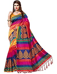 FANCY SAREE New Collection Womens Orange Yellow Blue Dark Pink Saree With Blouse Piece Women's Daily Wear Office...