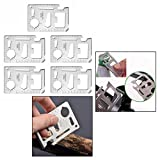 OFKPO 5pcs Acier Inoxydable Carte de Crédit Survie 11-tools-in-1, Outil...