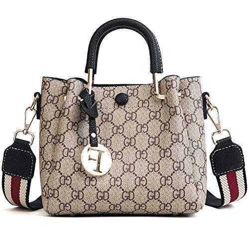 LFGCL Taschen womenPresbyopic Mode Handtasche große Kapazität Breiten Schultergurt Schulter Diagonale Paket, schwarz