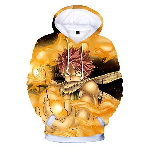 Kostüm Fairy Tail Katze - RJHWY 3D Hoodie Sweatshirt Unisex Pullover Kapuzenjacke Kleidung Mantel HD Anime Top (XXS-3XL) Fairy Tail L