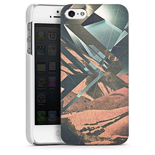 Apple iPhone 4 Housse Étui Silicone Coque Protection Mars Hipster Motif CasDur blanc