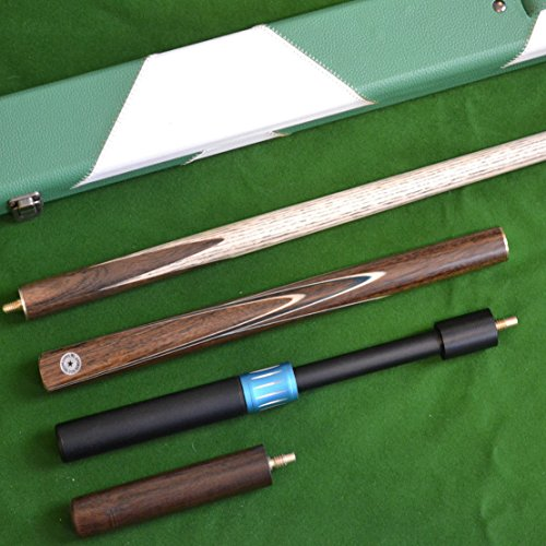 quality-handmade-4-piece-snooker-cue-set-comes-complete-with-rosewood-spliced-butt-leather-case-tele