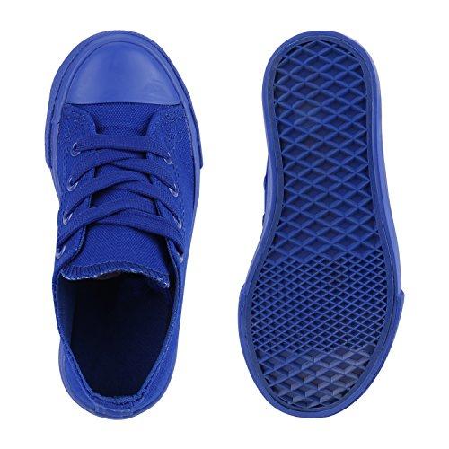 Kinder Sneakers Viele Farben Sportschuhe Turnschuhe Schnürschuhe Blau