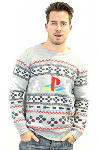 Prodotto ufficiale PlayStation-Maglione natalizio grigio