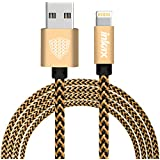 InKax® Lightning Port 8 Pin High Speed Data Sync And Fast Charging Cable For Apple IPhone / IPad Air / IPad Mini / IPad Pro / New IPad (2 In 1, Gold)