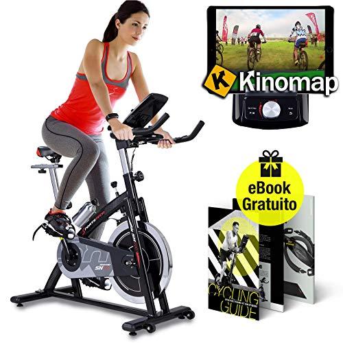 Sportstech Cyclette Professionale SX200 con Controllo Attraverso App per Smartphone, volano da 22KG, Supporto Braccia, Compatibile con cardiofrequenzimetro - ergometro Fino a 125 kg. E-Book Gratis