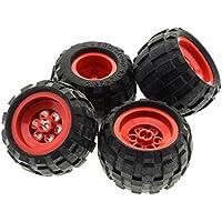 Baukästen & Konstruktion LEGO Bau- & Konstruktionsspielzeug 4x ®Lego Reifen Rad Ballonreifen 43.2 x 28 Felge Weiß #6580c01 6579 59